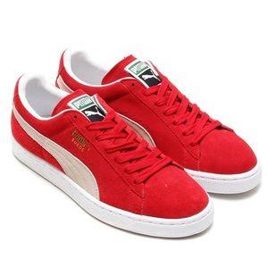 Red Puma Suede Classics Size 6.5